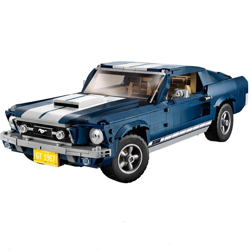 the the Ford Mustang 21047 1684 PCS Creator Expert1967 GT500 Compatible the 10265 Set Building Blocks