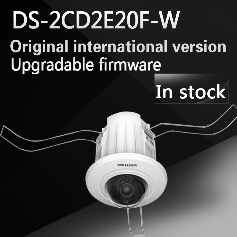 DHL free shipping english version DS-2CD2E20F-W 2.0MP Recessed Mount Dome 3D Digital Noise Reduction with wifi