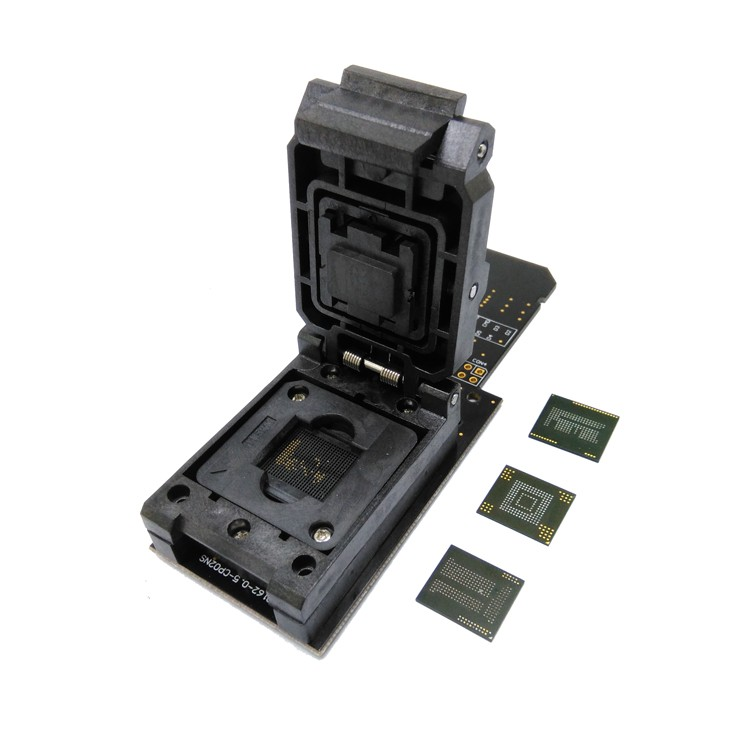 3 IN 1 eMMC153/169 eMCP162/186 eMCP221 Test <font><b>Socket</b></font> Reader BGA153 <font><b>BGA169</b></font> BGA162 BGA186 BGA221 Data Recovery 11.5x13mm 12x16mm image