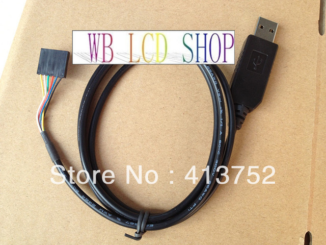 Free Shipping FTDI FT232RL USB to TTL Serial cable 5V Converter Adapter with CTS RTS 6PINS download cable in stock