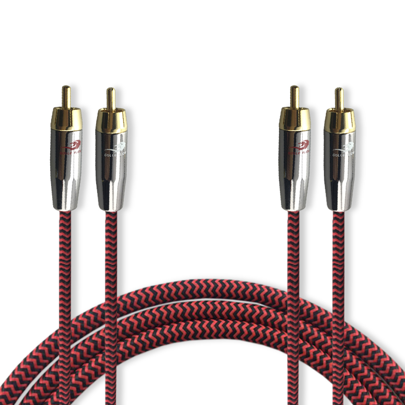 Dual RCA to Dual RCA Male Audio Cable For DVD font b Subwoofer b font font