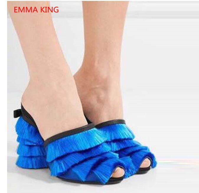 Picture D'été as Taille Chaussures Pantoufles As 35 Piste De Mules Mode Femme Dames 43 Gland Sandales Chaussons Pour Hauts Picture Talons Élégant R6RHqB
