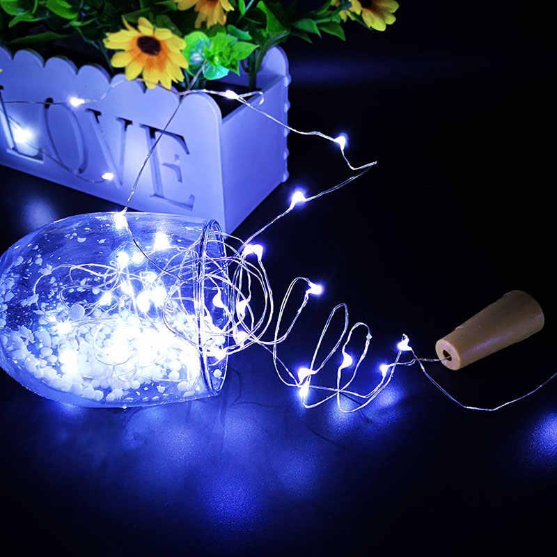 Рождественская гирлянда, светодиодные гирлянды, серебряная проволока, сказочные Огни праздничного освещения для сказочной рождественской свадебной части 1 м 2 м 3 м 5 м 10 м