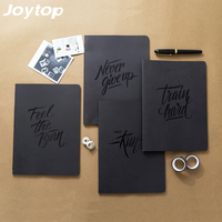 Joytop Black Cardboard Notebook Retro Creative Travel Journal Diary Exercise Composition Binding Note Notepad Gift 2017