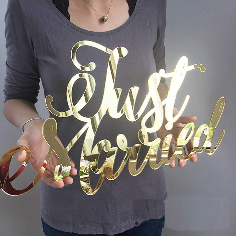 photo props Personalized Engagement Baby shower birthday party Acrylic Letter custom logo Wedding decoration in Party DIY Decorations from Home Garden