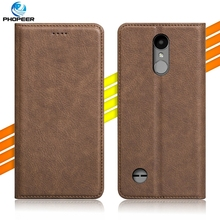 Luxury Retro PU Leather Case For LG K4 2017/Phoenix 3/Fortune/Risio 2/Rebel 2 Mobile Phone Filp Cover Case & Kickstand Function