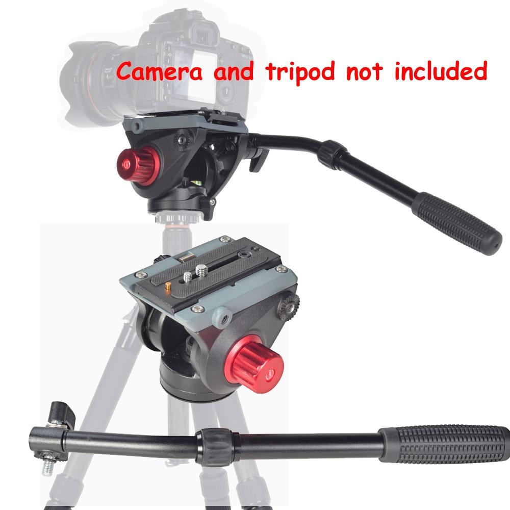 ASHANKS FH2 8KG Load Fluid Head for Monopod Track Slider Video DSLR Camcorder ashanks a750c carbon fiber extendable handheld monopod with fluid head for video dslr camcorder camera better than jy0506