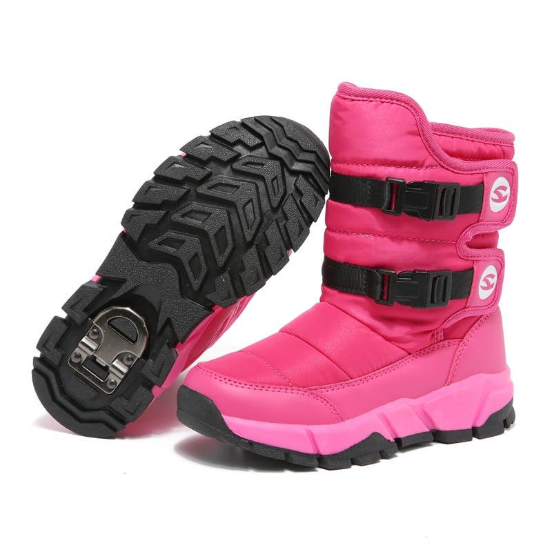 HOBIBEAR Winter Snow Boots for Girls Skórzane buty dziecięce Warm - Obuwie dziecięce - Zdjęcie 4