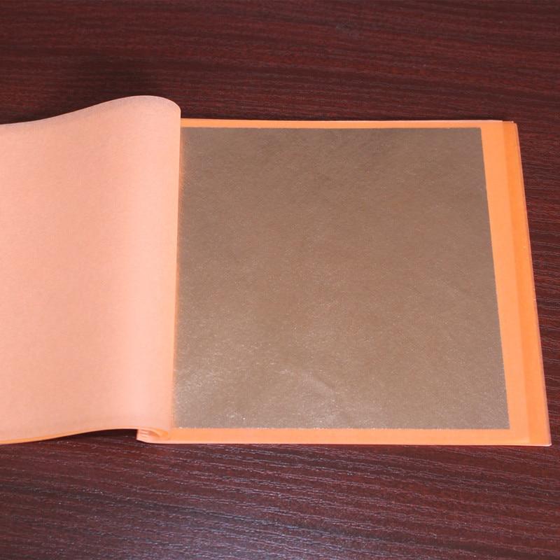40 booklet 1000PCS 25 pieces per booklet transfer foil 14 X 14cm Imitation gold leaf sheet