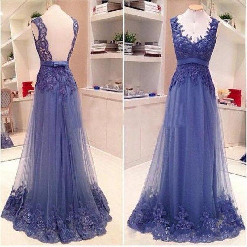 Navy Blue Formal   Dress   Beaded Lace A Line robe de soiree   Evening     Dresses   Elegant Tulle Appliques   Evening   Gowns Off Shoulder
