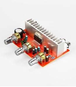Image 2 - Placa de potencia de amplificador de Audio, 12V, TDA7377, 40W x 2, estéreo 2,0, agudos, bajos ajustables