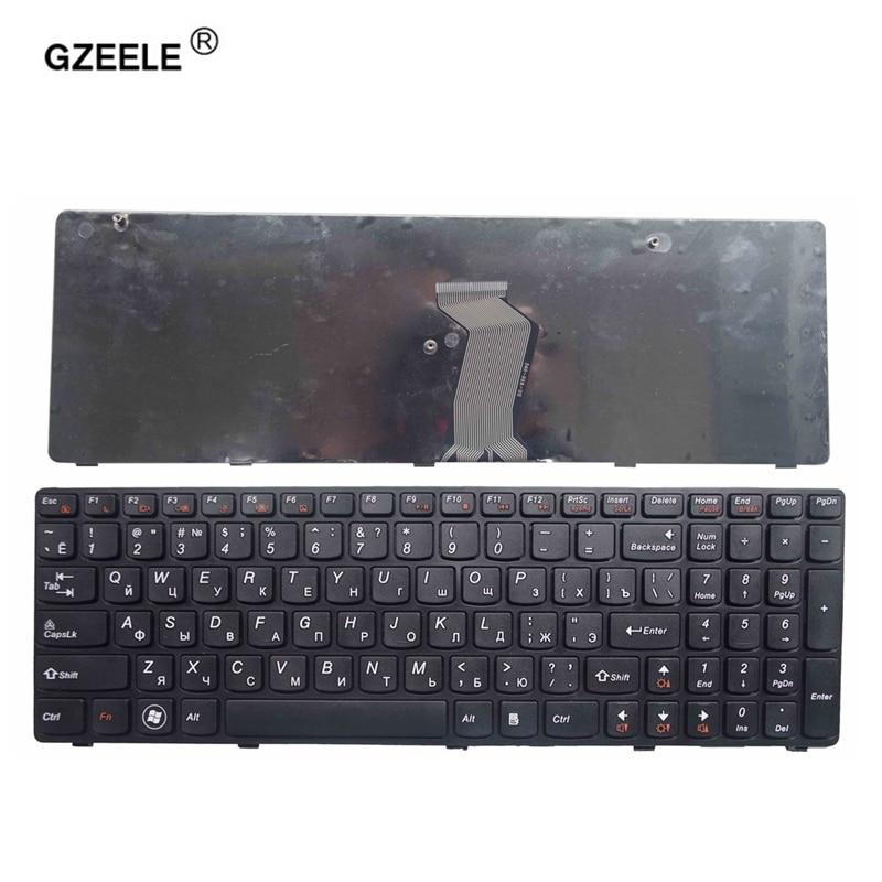 GZEELE NEW RU Keyboard For Lenovo T4G8-RU G580 Z580A G585 Z585 Russian Laptop Keyboard With Frame Black