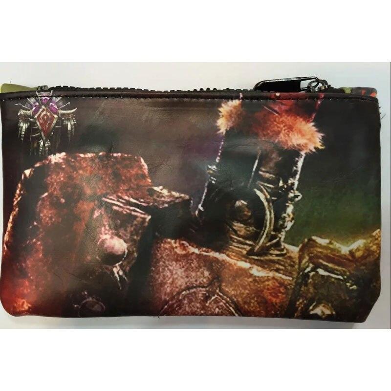 World of Warcraft Pencil Purse Wallet Leather Pen Bags Games War Craft Stationery Zipper Bag Gift Boy carteira Men Wallets