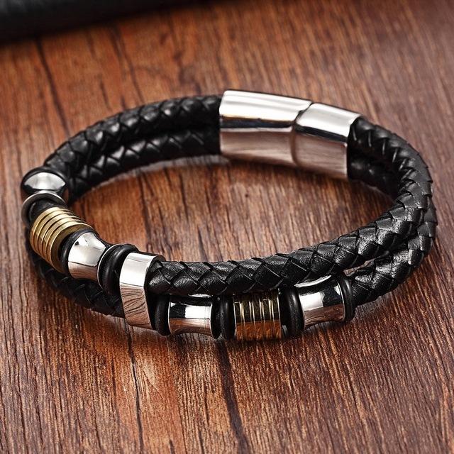 Men's Double Layer Leather Bracelets
