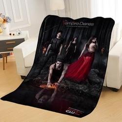 Spersonalizowane koce niestandardowe pamiętniki wampirów koce miękkie TR DIY twój obraz dekoracja sypialnia rzut dywan koc podróżny w Narzuty od Dom i ogród na