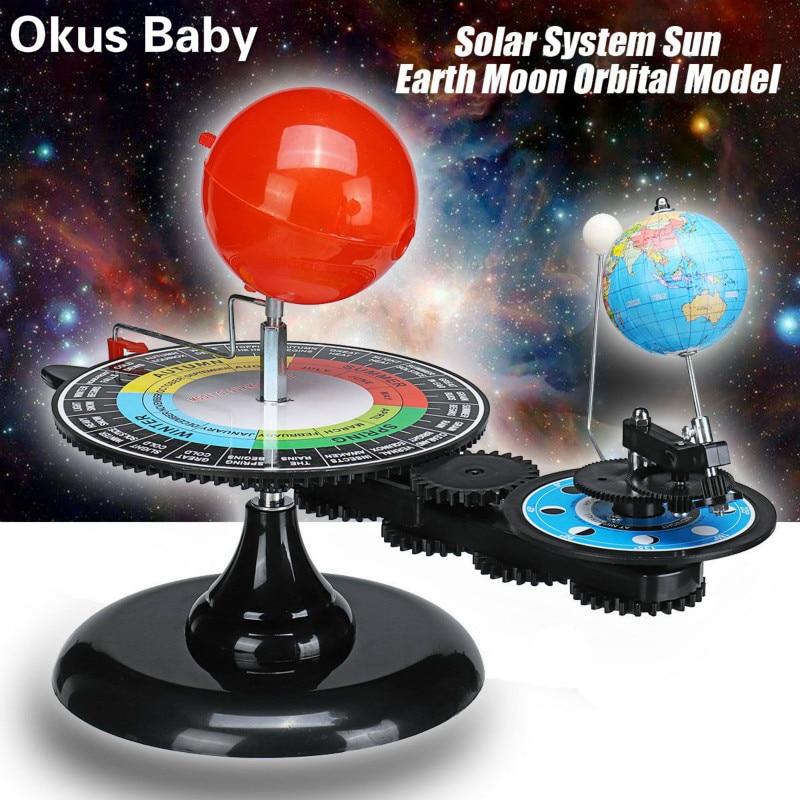 New Solar System Globe Earth Sun Moon Orbital Planetarium Model Educational For Children Toy Astronomy Science Kit Teaching Tool