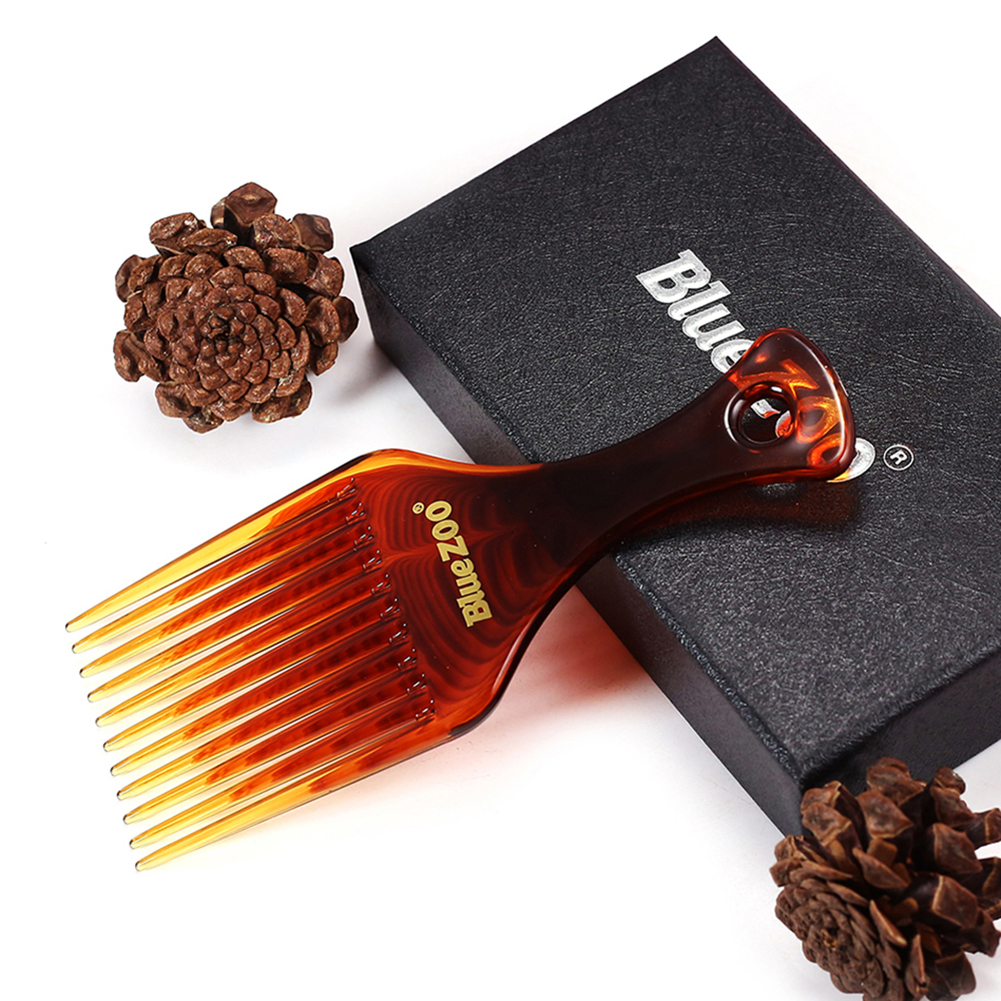 Купить с кэшбэком 2 Colors New Style Afro Comb Curly Hair Brush Salon Hairdressing Styling Long Tooth Styling Pick Styling Accessory