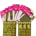 1 Лист Золото Ногтей NF414-436 Винилы Цветок Геометрический Узор Маникюр Ногтей Трафарет Стикер