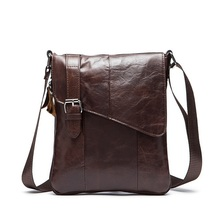 Promotion real leather-based mini males messenger baggage cowhide small males bag crossbody cell phone waist bag cigarette bag   LJ-285