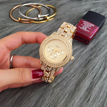 New Hot Sale Watch Contena Classic Women Full Diamond Dress Watches Ladies Quartz Watch Gold Woman Watches relojes mujer
