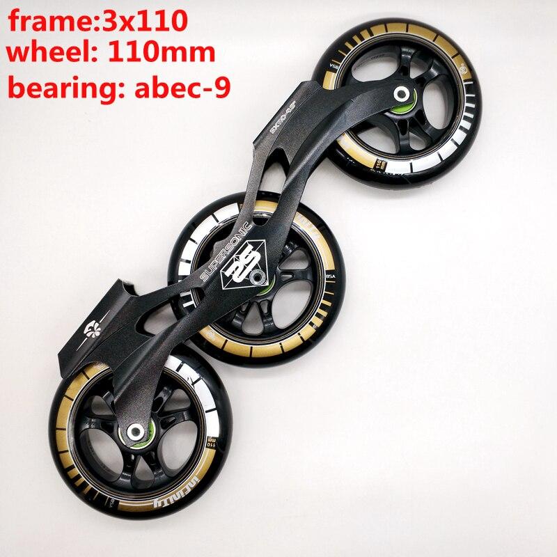 Marco de patines de envío gratis velocidades 3x110 con ruedas