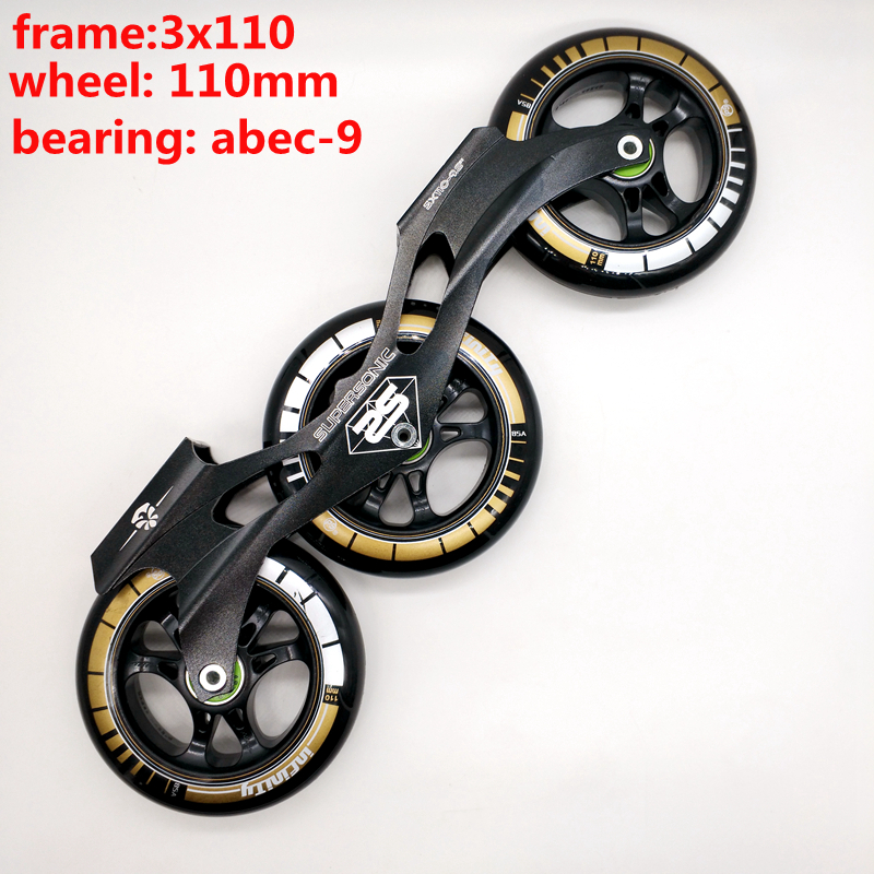 Free Shipping Speed Skates Frame 3x110 With Wheels