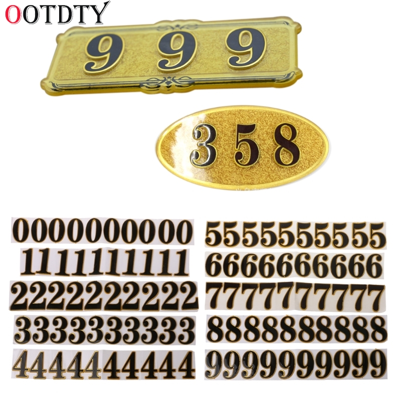 OOTDTY 10PC DIY Door Number Room Plate Address Office Home House Number 0-9 Hotel Sign