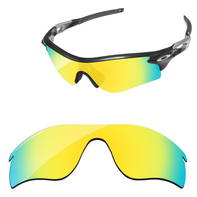 77e0c3b4df5db Polycarbonate-24K Golden Mirror Replacement Lenses For RadarLock Path  Sunglasses Frame 100% UVA   UVB Protection
