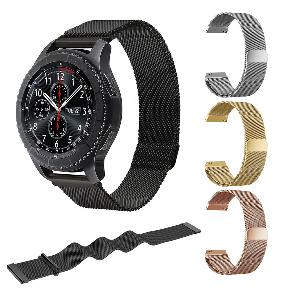 Magnetic Milanese Loop Band For Samsung Gear S3 Frontier/Classic Replacement stainless steel band for Samsung Gear S3 Classic