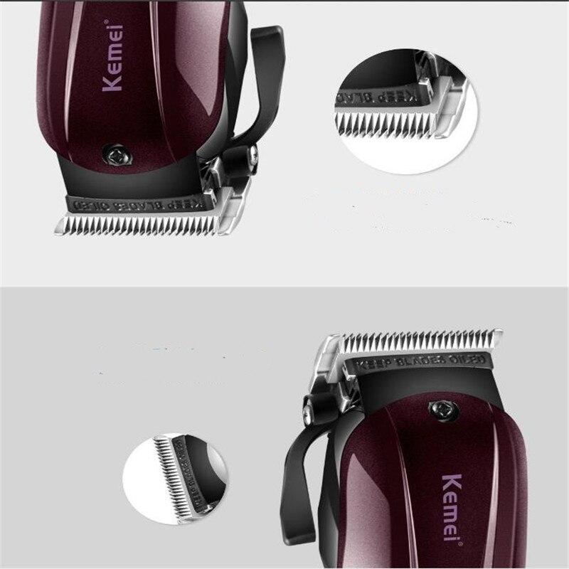 Professionnel adulte garniture cheveux tondeuse coupe sans fil rechargeable électrique barbier cheveux tondeuse barbier coupe machine rasage - 5