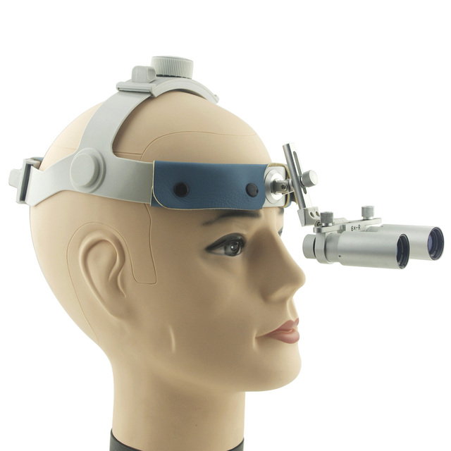 Headband 6.0X 420mm Working Distance Dentist Dental Surgical Medical Optical Loupes Ultra-light Headband and Huge View of Field