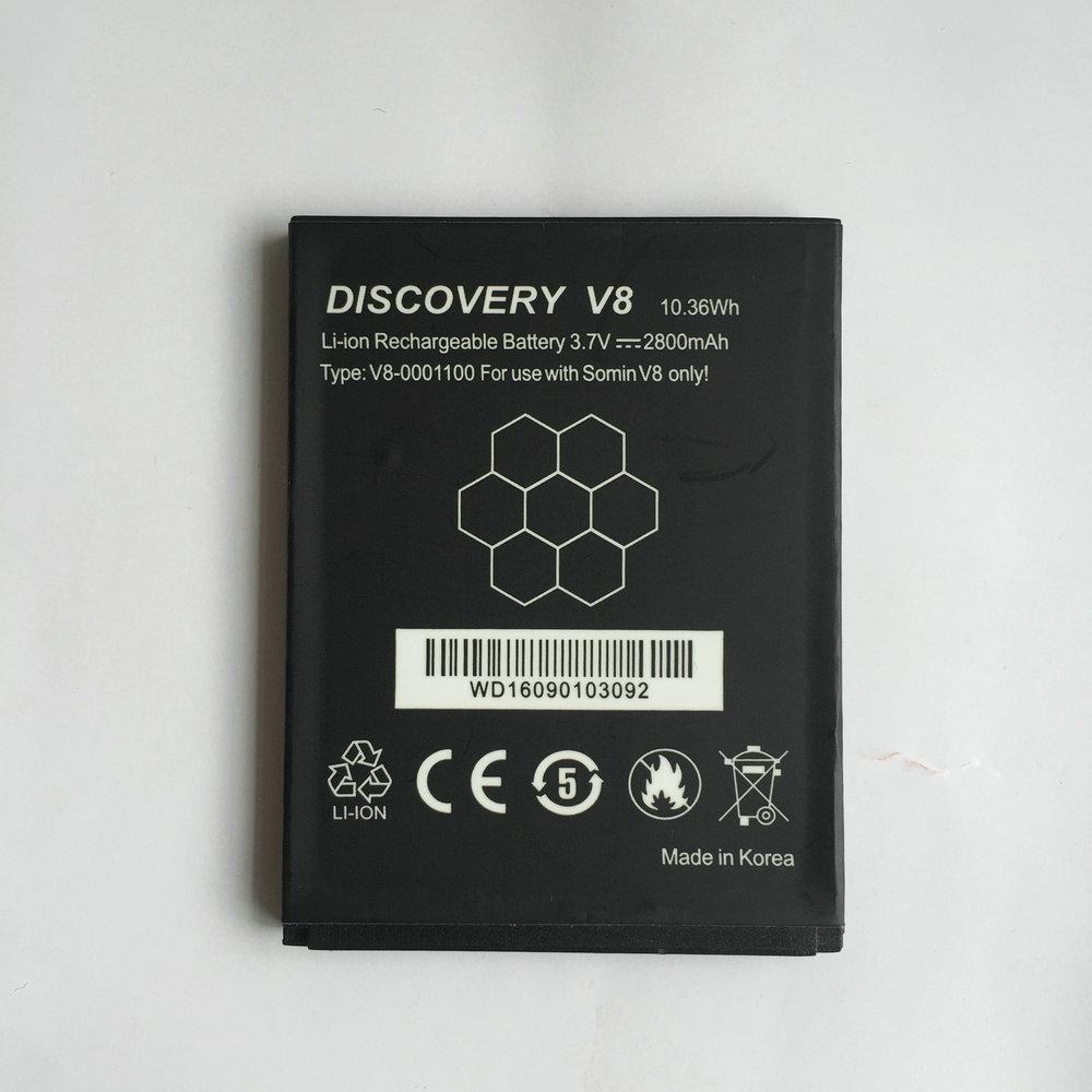 imágenes para Batería de Reemplazo Para Guophone Original Descubrimiento V8 4.0 pulgadas teléfono Móvil Recargable Li-ion 3.7 V 2800 mAh 100% Probado