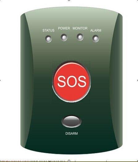 Bouton d'alarme GSM SOS (433/315, 850/900/1800/1900 MHZ) système d'alarme d'urgence