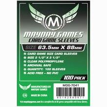 5 упаковок/партия MAYDAY 7041 для 63,5*88 мм защита для карт Прозрачный чехол Чехол для настольных игр