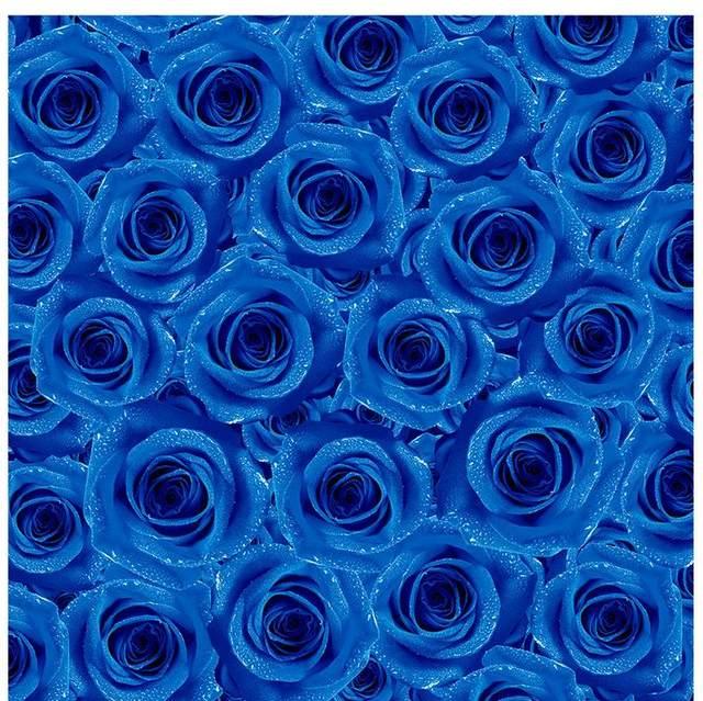 3D PVC Floor Wallpaper Blue Rose Living Room Bedroom Tiles Custom Photo Self Adhesive