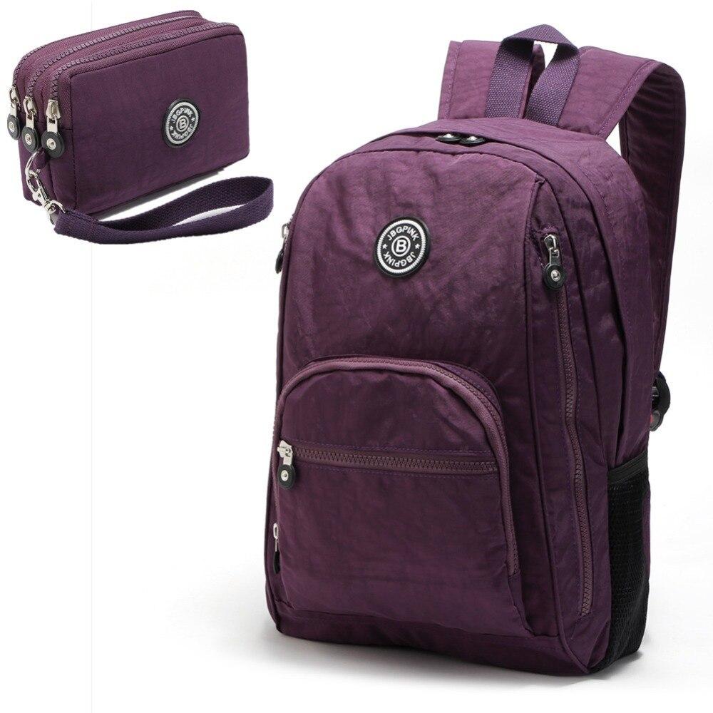 Women Kiple Multifunction School Waterproof Nylon Backpack Mochila Escolar New 2018 Shoulder Bag Computer Bag рюкзак waterproof nylon backpack 10 travelbag mochila aimi919