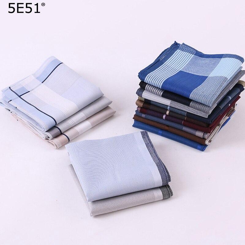 Men Handkerchief Cotton 100%/ Grid Stripe Printed 43cm/Many Uses