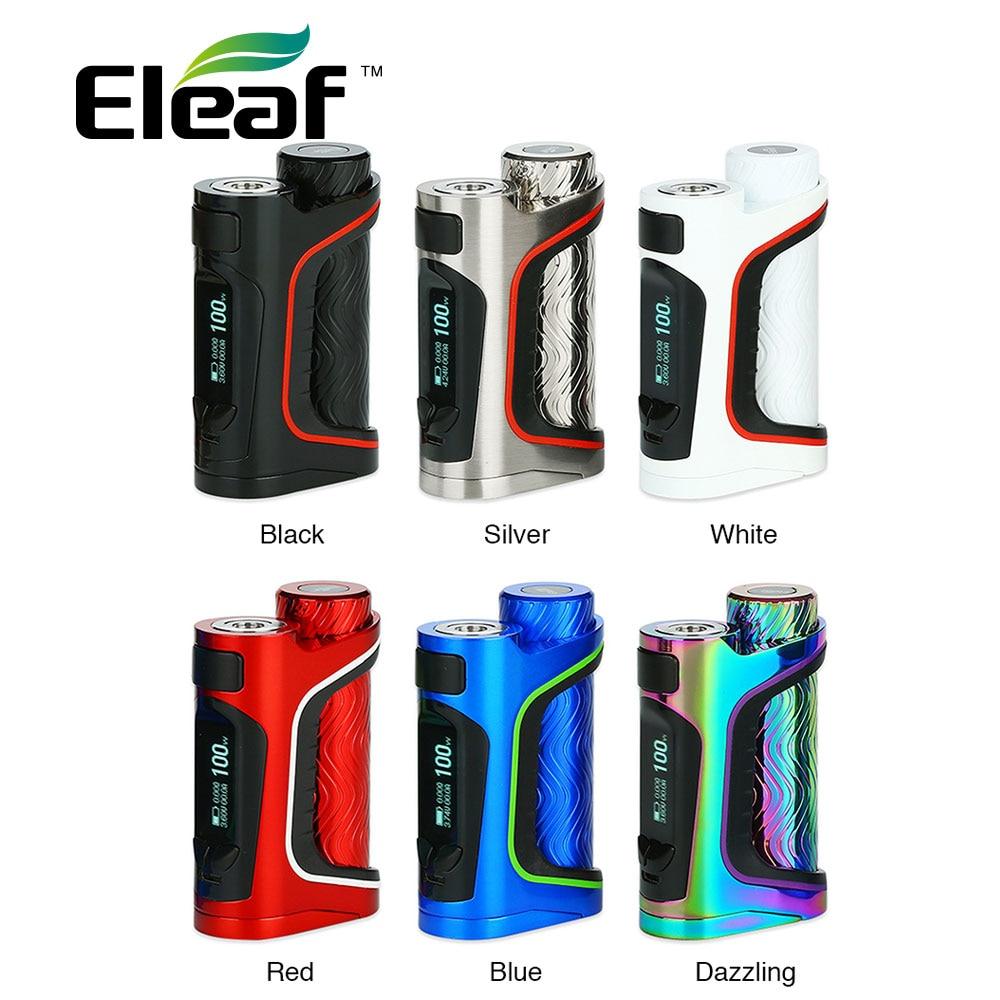 Originale 100 W Eleaf IStick Pico S 21700 TC Box MOD Max 100 W w/7-color LED luce Nessuna Batteria 21700/18650 Mod Box Vs Luxe Mod
