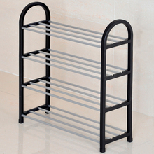 Plastic over steel pipe reinforced multilayer simple shoe rack shelf home storage Specials