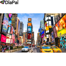 DIAPAI 5D DIY Diamond Painting 100% Full Square/Round Drill Car city scenery Embroidery Cross Stitch 3D Decor A21818