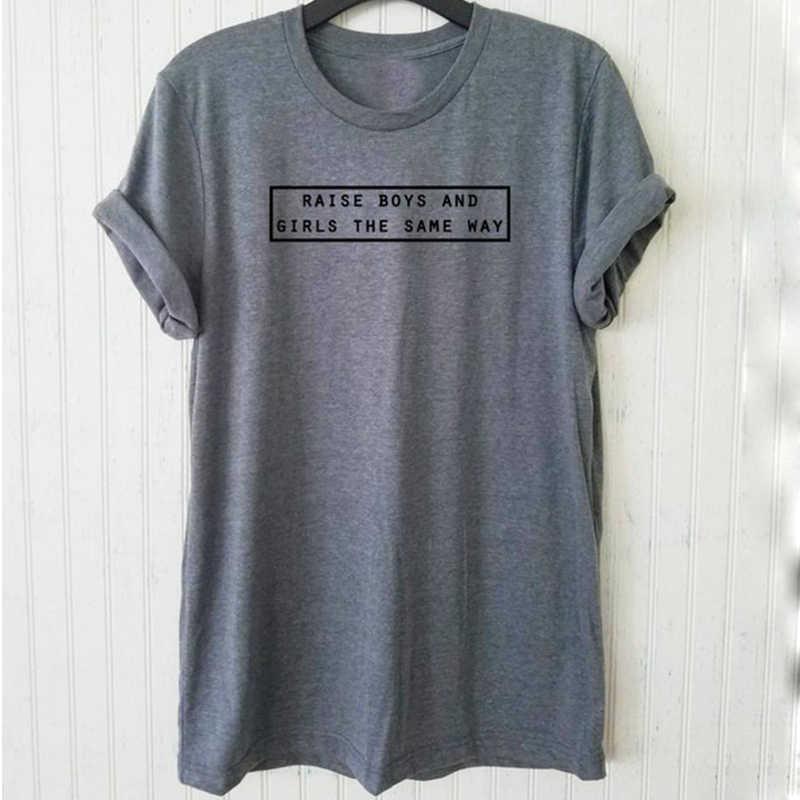 846c28f6 EnjoytheSpirit Women T Shirt Raise Boys and Girls The Same Way Tshirt  Unisex Women's 100%