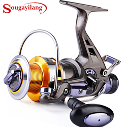 Sougayilang podwójny hamulec kołowrotek w lewo/w prawą rączkę kołowrotek karpiowy 10BB 5.2:1 narzędzia połowowe sprzęt wędkarski