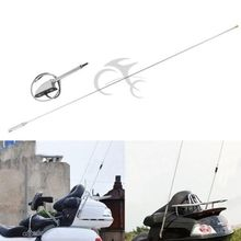 Motorcycle Chrome Antenna Kit For Honda Glodwing GL1800 GL1500 GL1800P GL1800HPNA Audio Comfort Navi GL1800A 2001-2014 13 12