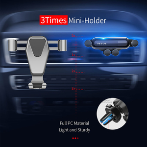 Image 5 - Essager Gravity Car Phone Holder for iPhone Xiaomi mi Air Vent Car Mount Holder for Phone in Car Mobile Cell Phone Holder Stand