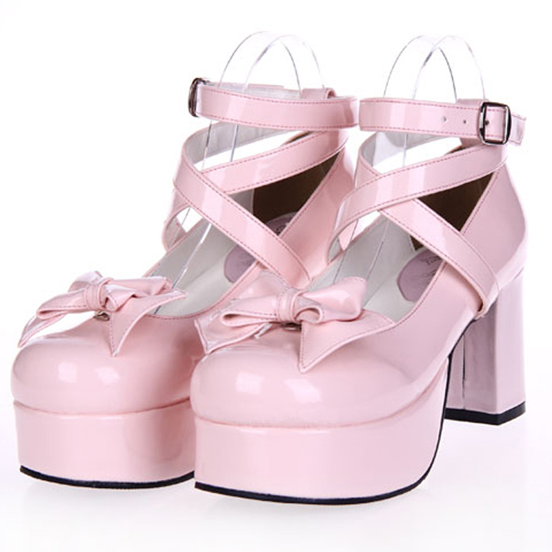 Female spring anime cosplay lolita shoes women heeled shoes Sweet high heels leather Princess platform shoes