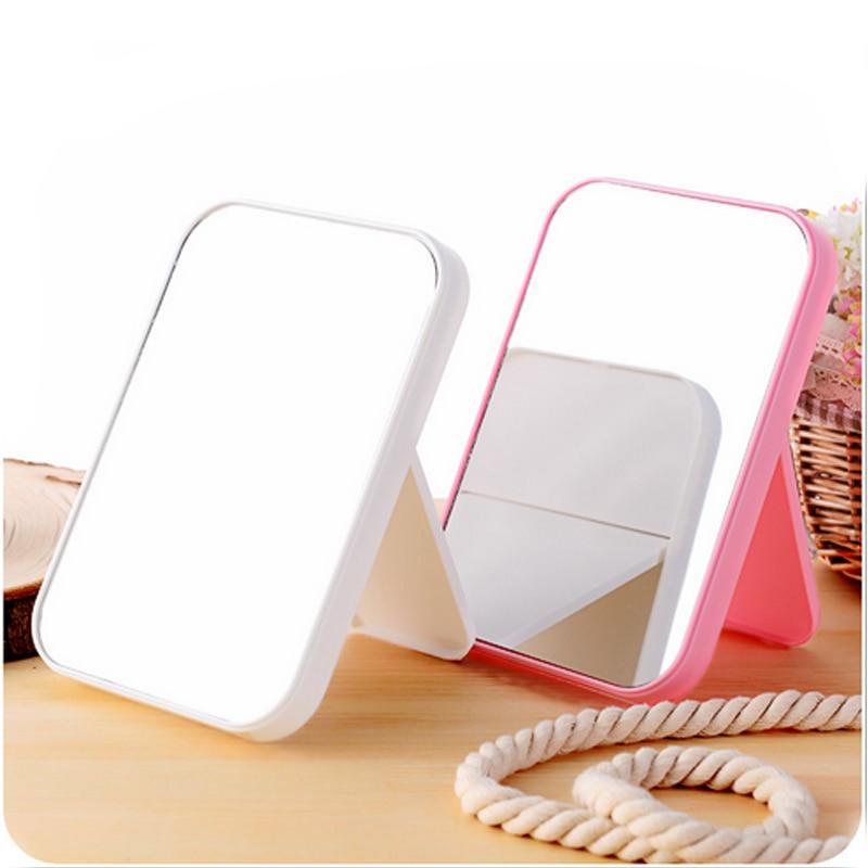 طراحی ساده مثلث قابل حمل زنان آرایش صورت آینه آینه آرایشی جمع و جور تاشو آینه آرایشی جدید جدید ارزان