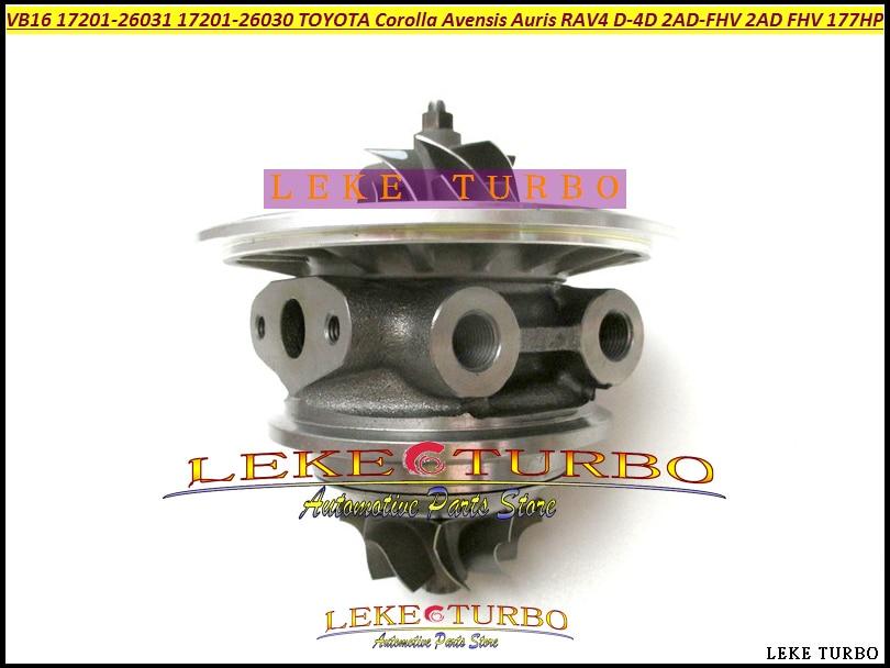 Turbo Cartridge CHRA RHF5 VJA30024 VB16 17201-26030 1720126030 For TOYOTA Corolla Auris Avensis RAV4 D4D 2AD-FHV 2ADFHV 2AD 2.2L turbocharger vb16 turbo kit 17201 26031 cartridge core chra turbine for toyota auris avensis corolla rav4 2 2 d 4d 130 kw