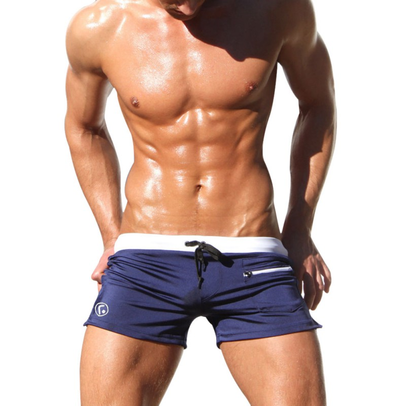Men Fashion Sexy Summer   Board     Shorts   Solid   Short   Low Waist Beach Wear Male   Shorts   With Pocket