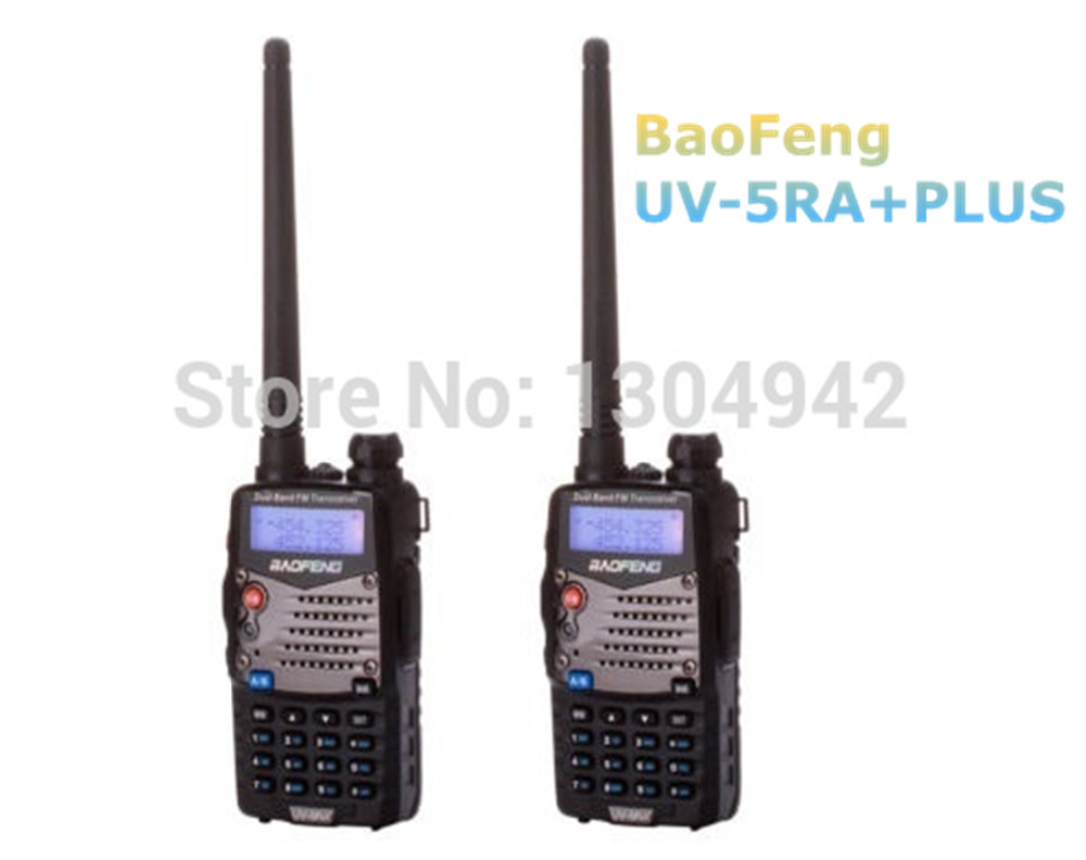 2 PCS BAOFENG Walkie Talkie UV 5RA Plus Black Ham Two Way Radio 136 174 400