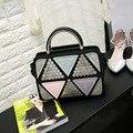 Women Rivets Leather Handbags Japanese and Korean Version Simple Fashion Famous Brand Style Shoulder Messenger Bags